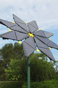 One case that solar panel not to be boring aesthetically. Could be a start of something artsy but yet essential.