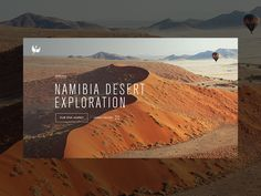 Experiences hero re-design — Namibia
