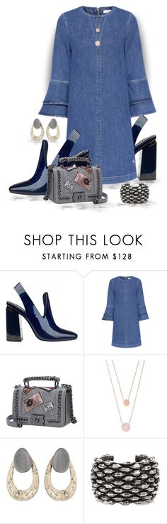 """""""My name is Denim"""" by runners ❤ liked on Polyvore featuring Ganni, Michael Kors, Alexis Bittar and Yves Saint Laurent"""