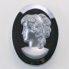 We have an extensive selection of vintage and new cameos like this 40x30 mm ovale HEMATITE ON HEMATITE piece.  Visit http://www.jfallen.com
