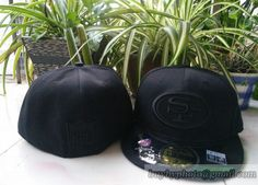 San Francisco #49ers Black Embroidery #59fifty Fitted hats