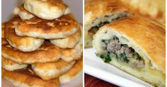Recipe for piroshki! YELLOW BATTER with juicy minced meat filling! Discover this recipe with a rating of rated by 129 members. Dutch Recipes, Cuban Recipes, Russian Recipes, Beef Recipes, French Recipes, Drink Recipes, Healthy Eating Tips, Healthy Nutrition, How To Cook Beef
