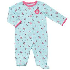 Cotton Snap-Up Sleep & Play - pretty in blue...