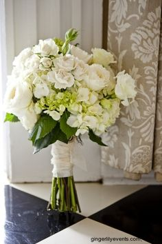 Lovely white bridal bouquet.