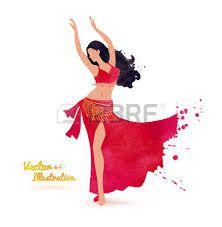 Resultado de imagen para bailarina arabe silueta  pintura