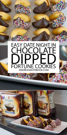 Make chocolate dipped fortune cookies #ad #wokwednesday