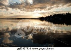 """Sunset Reflection in water"" - Sunset Stock Photos from Go Graph"