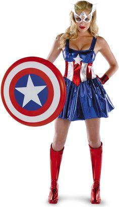 MOONIGHT Women Captain America Costumes, Sexy Halloween Costumes, Cosplay Sexy Costume Superhero Dress For Women Blue Costumes, Carnival Costumes, Adult Costumes, Costumes For Women, Cosplay Costumes, Female Costumes, Costume Wigs, Superhero Dress, Female Superhero