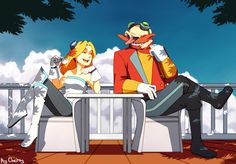 Maria and Eggman. by Cheroy on DeviantArt