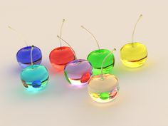 Yahoo Image Colored Glass Apples