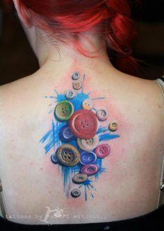 buttons tattoo