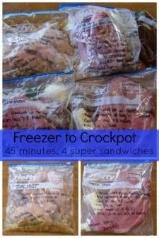 Slow cooker recipes sandwiches - Prep 4 delicious crockpot recipes in only 45 minutes!