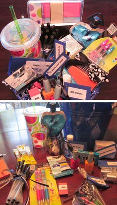 'College Survival Kit' Gift Basket | Click Pic for 24 DIY Christmas Gifts for Teen Girls | Handmade Gift Ideas for Teen Girls