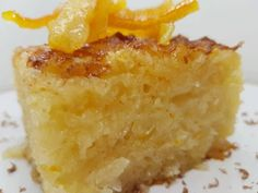 Greek Sweets, Greek Desserts, Cornbread, Macaroni And Cheese, Bakery, Lemon, Food And Drink, Cooking, Ethnic Recipes
