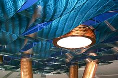 Beautiful waves of blue metal at the W Hotel ... #Móz #Moz #Metal #Metals #Metallic #Metallics #Design #Designs #Designer #Surface #Surfacing #Architecture #Architectural #Modern #Contemporary #Decor #Decorative #Material #Materials #Cover #Covering #Art #Fashion #Interior #Exterior #Aluminum #Neutral #Handcrafted #Color #Laminate #Building #Room #Commercial #Corporate #Construction #Urban #Bold #Inspiration #Manufacturing #Manufacturer #Hospitality #Hotel #Blue #Wave #Dimension #Ceiling