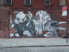 West 13th Street, NYC  by navema www.navemastudios.com  Street Artists include: Elbow-Toe, Mr. Brainwash (MBW), Clown Solider, & Gaia ---------------------------------------------------------------------- ------------------------------------------ Ph Mr Brainwash - more streetart? Check www.Streetart.nl