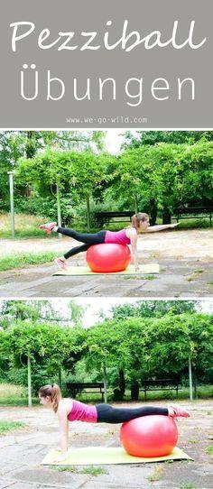 Pezziball Übungen sind gut für den Rücken, die Po Muskeln und allgemein den ganzen Körper. Die Gymnastikball Übungen helfen dir einen flachen Bauch zu bekommen und das ganz spielerisch. Das Training für Anfänger beinhaltet viele Übungen für Bauch Beine Po. Los geht's #bauchbeinepo #gesundheit
