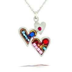 Triple Hearts Necklace from the Artazia Collection #1023 HN The Artazia Collection. $64.00. See our Total Satisfaction Pledge and easy return and refund policy. Each piece is truly like a miniature artwork. Triple Hearts Necklace