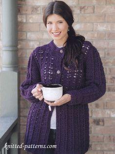 Auberine Coat - Free Crochet Pattern