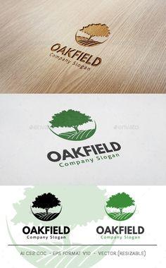 Oak Field - Logo Design Template Vector #logotype Download it here: http://graphicriver.net/item/oak-field-logo/11790095?s_rank=727?ref=nexion
