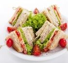 Fresh Tasty Club Sandwich Lettuce Cheese Stock Photo (Edit Now) 110560019 Tea Sandwiches, Soup And Sandwich, Pizza Sandwich, Paninis, Vegetarian Recipes, Snack Recipes, Healthy Recipes, Ideas Sándwich, Food Ideas