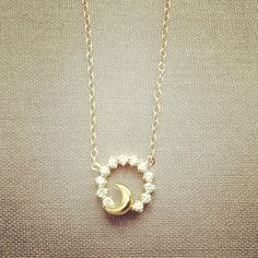 Sun & Moon gold filled necklace pretty, cute, lovely, adorable jewelry. IMSMISTYLE