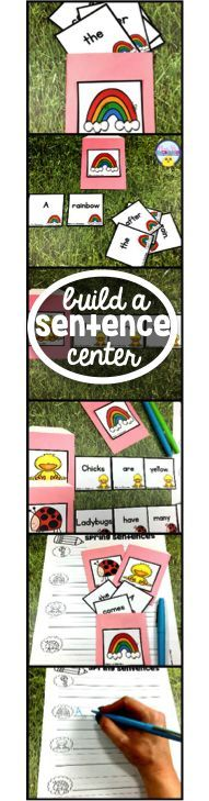Hands on Activity/Center to help students work with editing sentences. Unscramble the cards to build complete sentences. Recording sheets and story writing extensions Phonics Lessons, Phonics Worksheets, Writing Lessons, Kindergarten Lesson Plans, Kindergarten Writing, Writing Complete Sentences, Phonics Centers, Second Grade Writing, First Grade Phonics