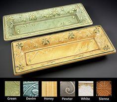Pottery Tray Vanity Tray Asparagus Tray by SpectorPottery on Etsy, $54.00