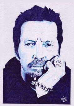 Eric Clapton (Bic sobre papel Canson)