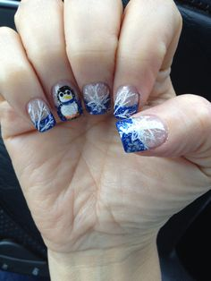 Penguin winter nails...my tech's version!