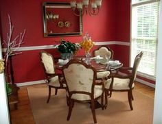 Simple Templatepoweredblogger8 Of 12  Dining Rooms Impressive Red Wall Dining Room Decorating Design