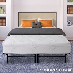 Best Price Mattress 12 Inch Grand Memory Foam Mattress and 14 Inch Premium Steel Bed Frame/Platform Bed Set, King >>> Click on the image for additional details.