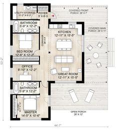 Cabin Style House Plan - 2 Beds 2.00 Baths 1230 Sq/Ft Plan #924-2 Floor Plan - Main Floor Plan
