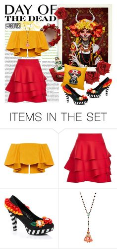 """""""Day of the Dead"""" by cara-mia-mon-cher ❤ liked on Polyvore featuring art and Dayofthedead"""