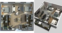 Welcome to part 2 of our 'Awesome 3D House/Apartment Plans' where you can see another 20 amazing 3D perspectives of what is best in interior design and architecture today. It's incredible what these designers and architects have been able to do with limited space and it just goes to show that bigger is certainly not always better! Take a look!