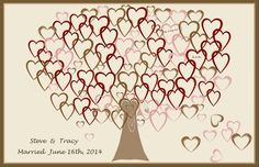 Heart Tree, Wedding guest book alternative, wedding accessories | ArtisticCreationsbyRose - Wedding on ArtFire
