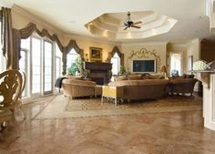 tile floors designs | Porcelain tile flooring stones Consuls – Aurelia. Valance Curtains, Valances, Floor Design, Porcelain Tile, Beautiful Kitchens, Decor Interior Design, Decoration, Great Rooms, Sweet Home
