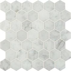 Shower floor MS International, Carrara White Hexagon 12 in. x 10 mm Polished Marble Mesh-Mounted Mosaic Floor and Wall Tile sq. /case), at The Home Depot - Mobile Hexagon Mosaic Tile, Mosaic Wall Tiles, Bathroom Floor Tiles, Wall And Floor Tiles, Hex Tile, Honeycomb Tile, Shower Floor Tile, Hexagon Backsplash, Shower Walls