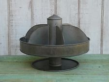Primitive Antique Style Small Metal Lazy Susan Farmhouse Country Home Decor