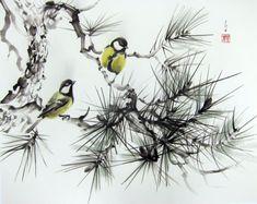 Ella Saridi_Japanese Ink Painting Ink art  Asian art Sumi-e