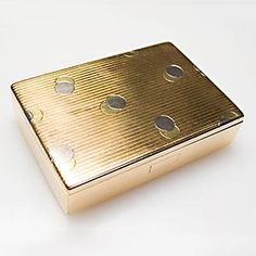 Cartier Vintage Cigarette Case with Dotted/ Domino Moif Solid 18K Yellow & White Gold. Phenominal item to use for multiple purposes, gorgeous to be seen with besides.