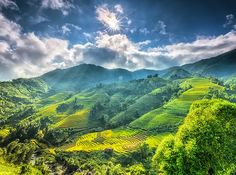 Sa Pa, Vietnam: This stunning mountain town sits just below the Chinese border. And the view? Those are the vertical rice terraces of the Muong Hoa Valley.