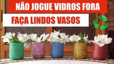CHALK PAINT em vidros + Pátina Provençal = VASOS LINDOS Decoupage, Pintura Country, Diy Videos, Planter Pots, Youtube, Bottle, Timber Furniture, Painting Furniture, Mosaic Artwork