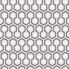 Papier peint - Cole and Son - Hicks Hexagon - Lilac Navy Green &White