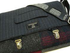 "13"" Macbook pro Messenger bag Macbook,Laptop Sleeve, Vintage wool,Tunk Latch,Recycled Suit Coat on Etsy, $149.58 AUD"