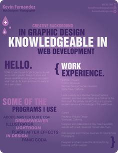 Resumes. C.Vs. Infographics