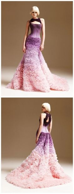 nice purple wedding dress