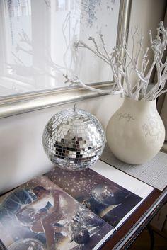 shiny disco balls!