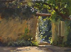 Courtyard at la Madelene A Daily painting by Julian Merrow-Smith