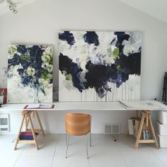 A flower isn't just a flower. Vancouver artist Bobbie Burgers' paintings recontextualize flowers with her wonderfully emotional and provocative brush strokes and brilliant use of scale. I'm absolutely obsessed with their size, each pieces ranges from 5-7 feet, as they add to the drama and
